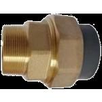Šroubení PVC (lepení) / mosaz (vnější závit)