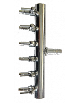 Šestcestní ventil 8 mm - 4 mm