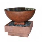 BASSIN Corten - sklobetonová fontána s podstavcem