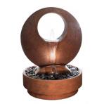 Boucle Corten - sklobetonová fontána s kulatým podstavcem