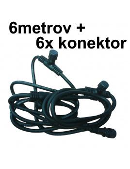 Kabel 6metrov + 6 konektory