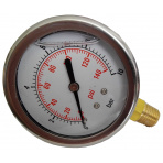 Manometer 0-10 bar Glycerin Bočný