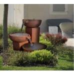 Coupelles Corten - sklobetonová fontána exteriér