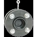 Zpětná klapka mezipřírubová s pružinou d50 + přírubový komplet, těsnění EPDM