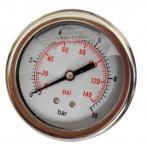 Manometer 0-10 bar Glycerin Zadný