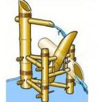 Bambusová vodní kolébka