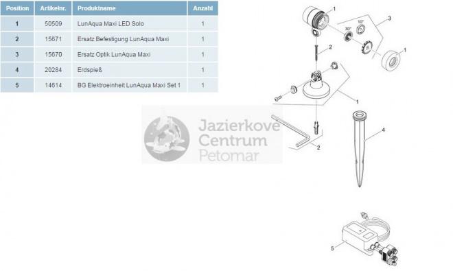 Oase Lunaqua Maxi LED 3W Set 1