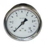 Manometer GR50 zadný - nerez - glycerín - sklo 0-10 bar