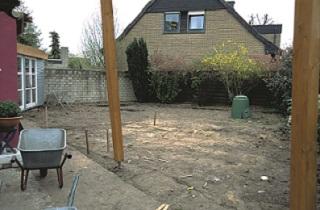 Príprava na stavbu jazierka
